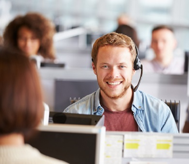 """<img src=""""image.jpg"""" alt=""""Man sat at a desk happy with a headset on"""" title=""""Delivery and Support Services"""">"""